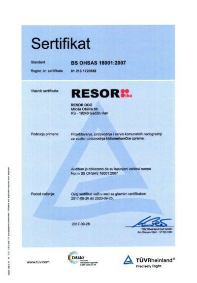 BS OHSAS 18001-2007